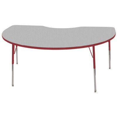 ECR4kids 48 x 72 Kidney Shaped Adjustable Activity Table in Gray
