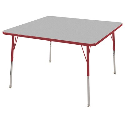 "ECR4kids 48"" Square Adjustable Activity Table in Gray"