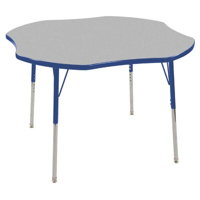 ECR4kids 48&quot; Clover Shaped Adjustable Activity Table in Gray
