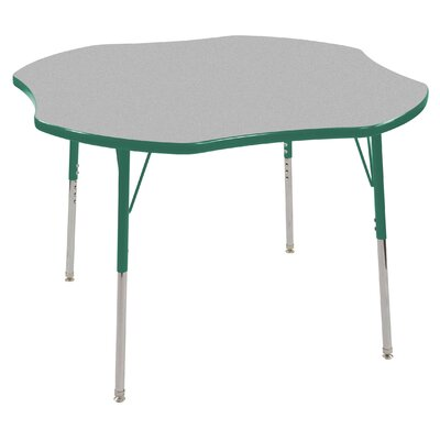 "ECR4kids 48"" Clover Shaped Adjustable Activity Table in Gray"
