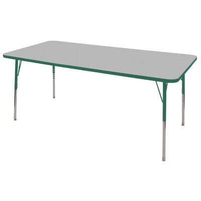 "ECR4kids 36"" x 72"" Rectangular Adjustable Activity Table in Gray"