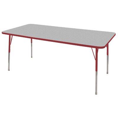 "ECR4kids 36"" x 72"" Rectangular Adjustable Activity Table in Gray"