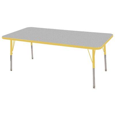 "ECR4kids 30"" x 60"" Rectangular Adjustable Activity Table in Gray"
