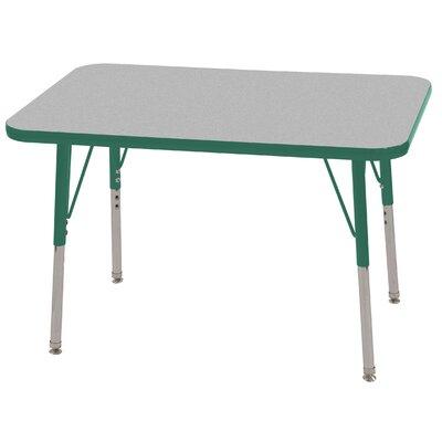 ECR4kids 24x36 Rectangular Adjustable  Activity Table in Gray