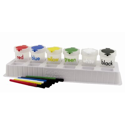 ECR4kids 13 Piece Paint Cup Palette Set