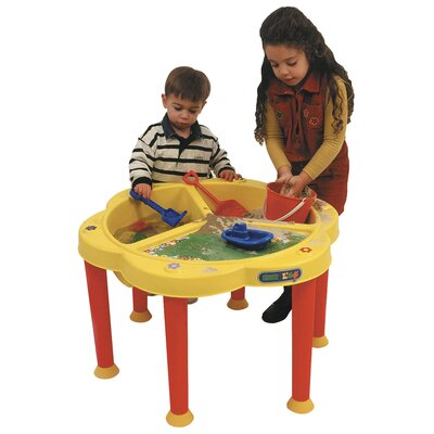 ECR4kids Sand and Water Play Table With Cover
