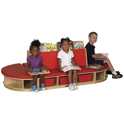 ECR4kids 4-Piece Birch Reading Sectional