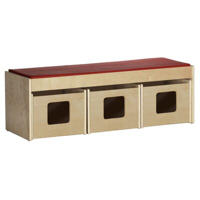 ECR4kids See & Store WoodClassroom Bench