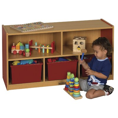 "ECR4kids Colorful Essentials™ Storage Cabinets - 5 Compartment - 24"" High"