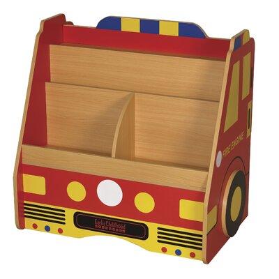 ECR4kids 3-Piece Fire Engine Book Storage Center