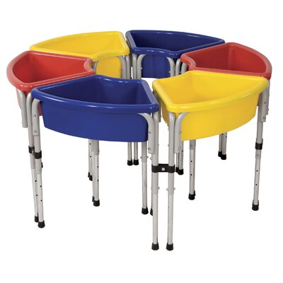 ECR4kids 6 Station Ellipse Sand & Water Center w/ Lids