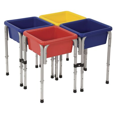 ECR4kids 4 Station Sand &amp; Water Center w/Lids - Square