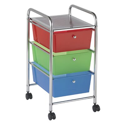 ECR4kids 3-Drawer Rolling Organizer