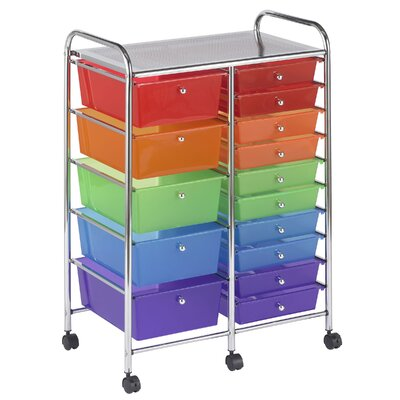 ECR4kids 15 Drawer Mobile Organizer