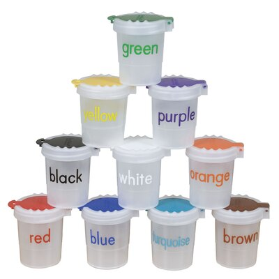 ECR4kids 10 Piece Large No-Spill Paint Cups