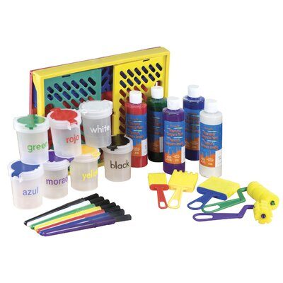 ECR4kids 27 Piece Paint Set in Large Storage Crate