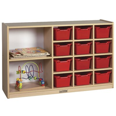 ECR4kids Double Sided Cabinet 14 Compartment Cubby