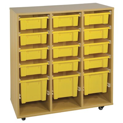 ECR4kids Storage Trolley with 15 Trays
