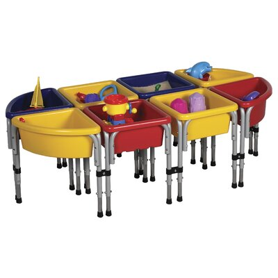 ECR4kids 8 Station Sand and Water Center with Lids