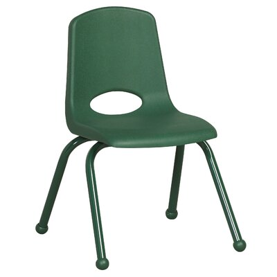 "ECR4kids 12"" Plastic Stack Chair with Matching Painted Legs"