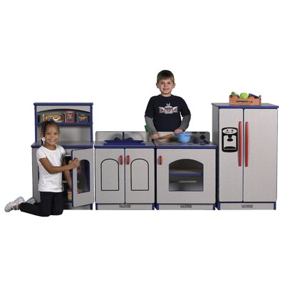 ECR4kids Four Piece Laminate Kitchen Playset