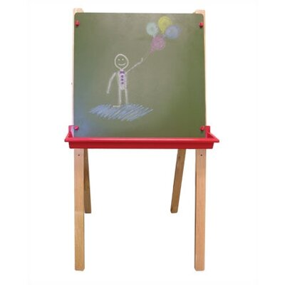 ECR4kids Adjustable Easel With 27 Piece Paint Set