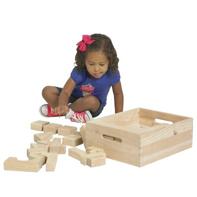 ECR4kids Hardwood Building Blocks 64 pcs