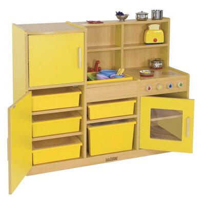 ECR4kids Colorful Essentials 4-in-1 Play Kitchen