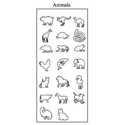 ECR4kids 20 Pieces My 1st Animals Stamper