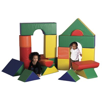 ECR4kids 21 Pieces Jumbo Soft Blocks