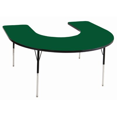 "ECR4kids 60"" x 66"" Horseshoe Adjustable Activity Table"
