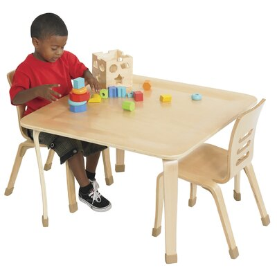 ECR4kids 30&quot; Square Bentwood Play Table