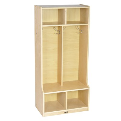 ECR4kids Two Section Locker with Bench