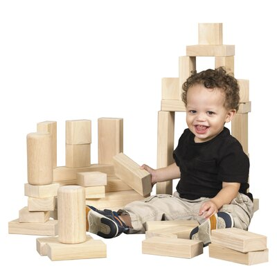 ECR4kids 154 Pieces Hardwood Building Block