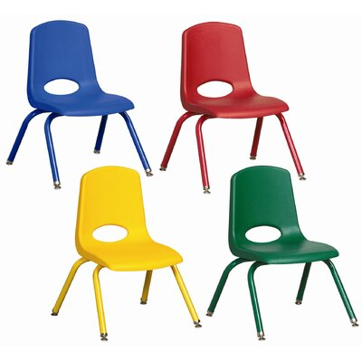 "ECR4kids 10"" Plastic School Stack Classroom Chair with Matching Legs (Set of 10)"