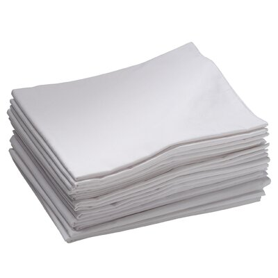 ECR4kids 12 Pack Standard Cot Sheets in White