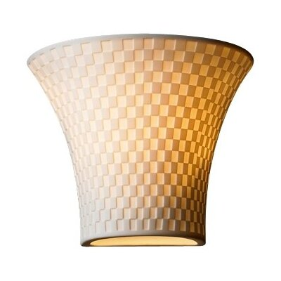 <strong>Justice Design Group</strong> Limoges 1 Light Wall Sconce with Shade