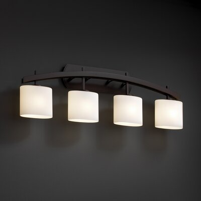 Justice Design Group Fusion Archway 4 Light Bath Vanity Light