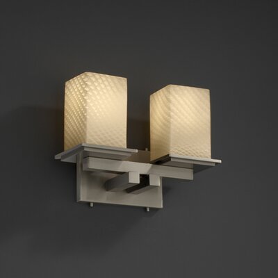Justice Design Group Fusion Montana 2 Light Bath Vanity Light