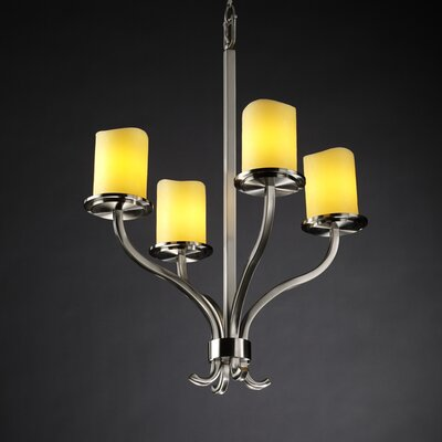 Justice Design Group CandleAria Sonoma 4 Light Chandelier
