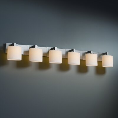 Justice Design Group CandleAria Modular 6 Light Bath Vanity Light