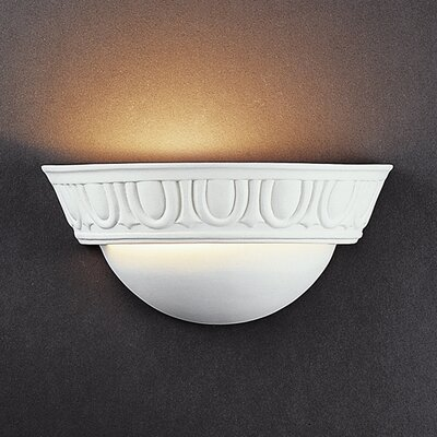 Justice Design Group Ambiance Small Cyma 1 Light Wall Sconce