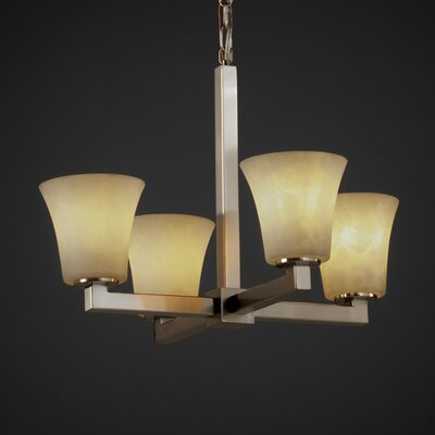 Justice Design Group Modular Clouds 4 Light Chandelier