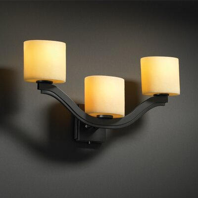 Justice Design Group Bend CandleAria 3 Light Wall Sconce