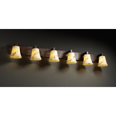 Justice Design Group Modular LumenAria 6 Light Bath Vanity Light
