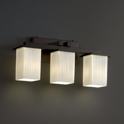 Justice Design Group Fusion Montana 3 Light Bath Vanity Light