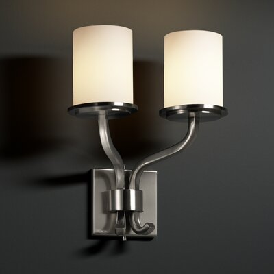 Justice Design Group Fusion Sonoma 2 Light Wall Sconce