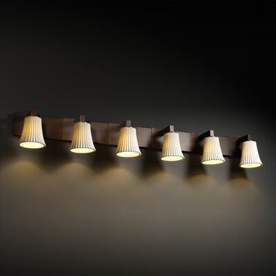 Justice Design Group Modular Limoges 6 Light Bath Vanity Light