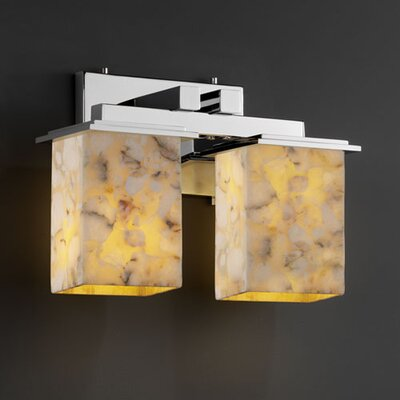 Justice Design Group Alabaster Rocks Montana 2 Light Bath Vanity Light