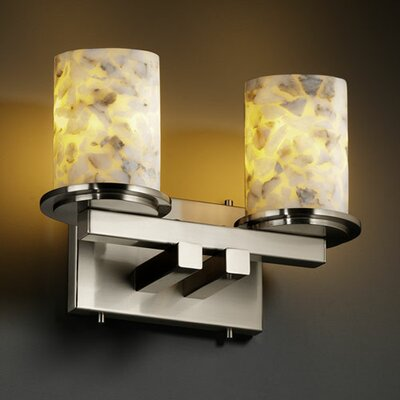 Justice Design Group Alabaster Rocks Dakota 2 Light Bath Vanity Light